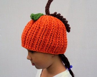 Pumpkin Hat, Easy Halloween Costume, Warm Winter Hat, Pumpkin Everything, Boys Girls