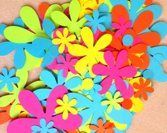 Mixed flower layers die cuts - brights - 180 pieces