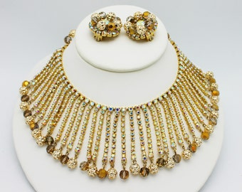 Vintage Fringe Necklace and Earrings