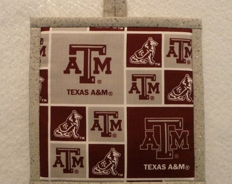 TX A&M Pot Holder, Texas A and M Hot Pad