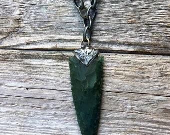 Boho Arrowhead Necklace