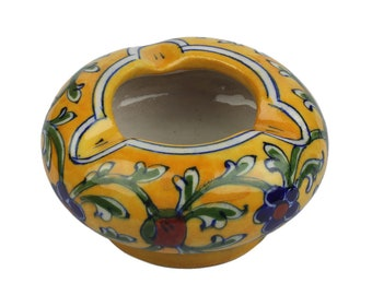 Blue Pottery Ash Tray,Indian Handicraft, Home Decor, Gift,Blue Pottery,Ash Tray