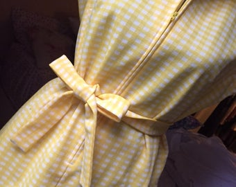 Vintage Marjone Yellow Plaid Pantsuit