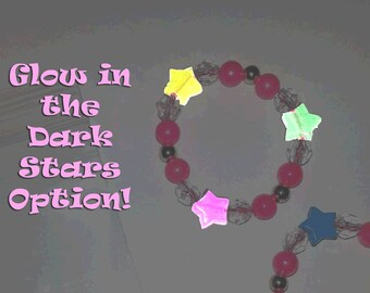 8 Bracelets or DIY Kits - Mia and Me Party Favor - Glow-in-the-Dark Bracelet - Girl's Party Activity - Thank You Gift