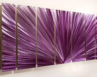 Purple Abstract Metal Wall Art - Modern Metal Painting - Accent - Wall Decor - Painted Artwork - Rhapsody by Jon Allen
