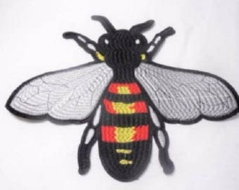 FLY WaSP bee * 9 x 6.5 cm * Applique badge patch embroidered iron - iron