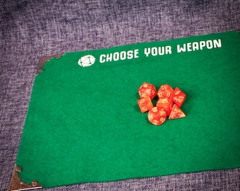 Dungeons and Dragons Mini Dice - Green//RPG//roleplayinggames//RPGaccessories//warhammer//callofcthulhu//bloodbowl//magicthegathering