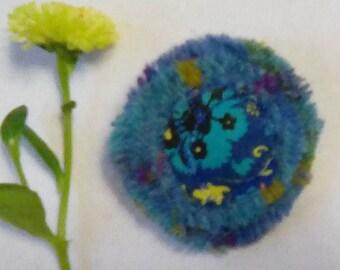 Harris Tweed,Liberty handmade round brooch