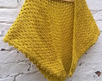 Goldfinch Shawl Crochet Pattern Scarf PDF