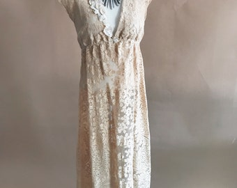 vintage lace maxi dress