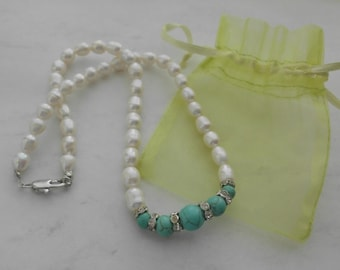 Pearl & Turquoise Necklace