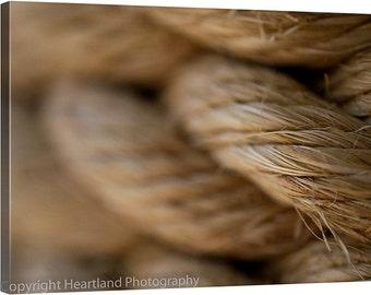 Large Macro Canvas, Nautical Rope Photo, Large Nautical, Large Nautical Art, Photography Canvas, Macro Photography, Macro Rope Photo