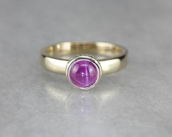 Pink Star Sapphire Ring, Modern Sapphire Ring, Sapphire and Diamond, Alternative Engagement F6UKKPCL-P
