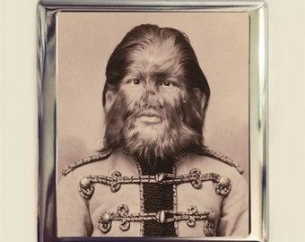 Victorian Sideshow Cigarette Case Business Card ID Holder Jo Jo the Dog Faced Boy Hairy Man Freak Freaks Medical Oddity