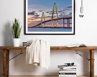 Charleston Art, Charleston Print, Charleston SC Art, South Carolina Art, Charleston Bridge, South Carolina Photography, Travel Photography