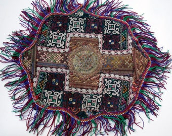 Embroidered Tribal Pillow Cover, Vintage Bukhara, Item 2