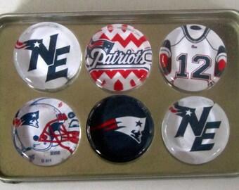 New England Patriots Fridge Magnets - Patriots Football Refrigerator Magnets Set of 6