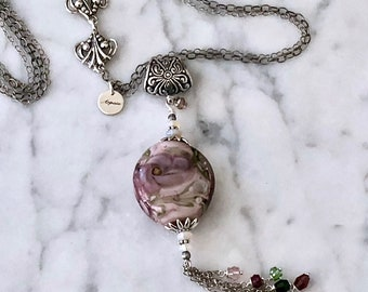 Water Lily in Mauve beachlove collection necklace by Arpaia