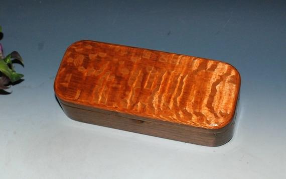 Handmade Wooden Pen Box, Gift Box or Desk Box- Lacewood on Walnut by BurlWoodBox, Wood Jewelry Box, Small Wood Box, Keepsake Box, Pencil Box
