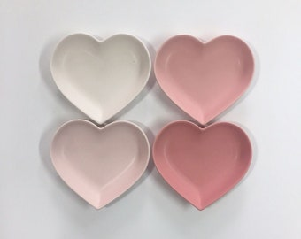 lovely Heart Shaped Plates, package of 4