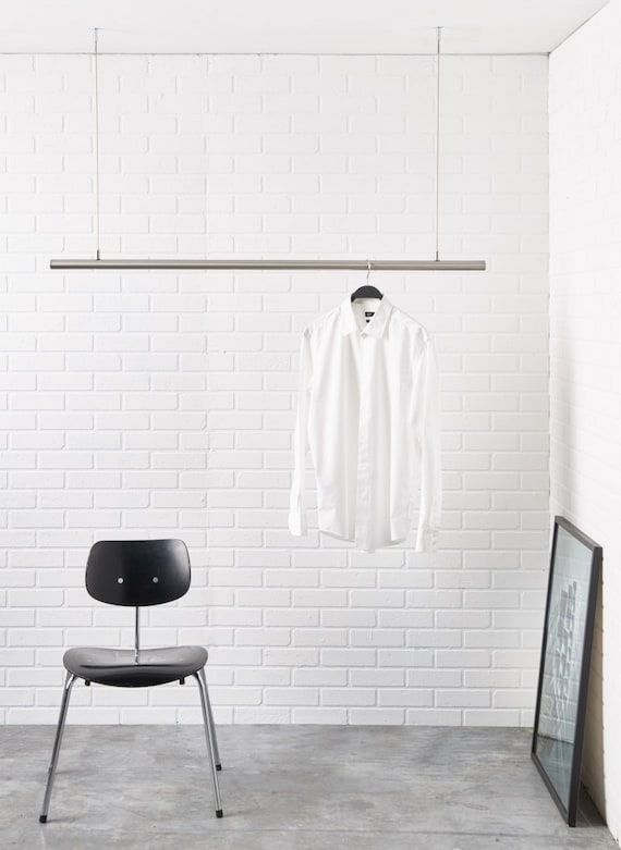 Airjust hanging cloth rack ceiling mounted the clothes for Garderobe decke