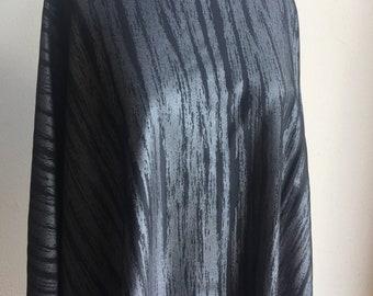 Metallic Midnight Swim Fabric. Nylon Lycra Blend