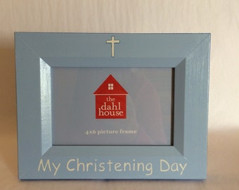 My christening day picture frame