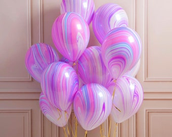 Marble Balloons | Unicorn Birthday Party | Baby Shower | Baby Shower Decor | Baby Shower Balloons | Unicorn Birthday | Birthday Party Decor