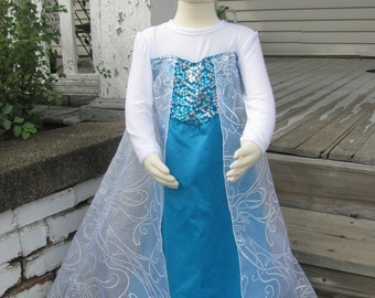 Costume, Elsa from Disney Frozen, Girls dress - CUSTOM ORDER