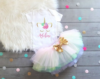 Baby Girl Clothes, Girls First Birthday, Unicorn Birthday, Unicorn Shirt, Unicorn First Birthday, Unicorn, Unicorn Birthday Outfit