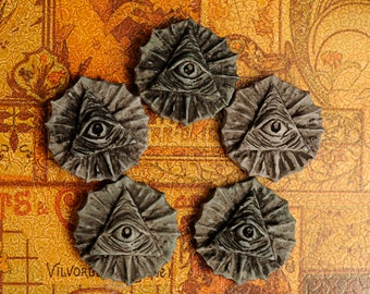 "Wax Melt- Eye of Providence ""Underworld"" Naturally Scented Vegan Soy for Shadow Work, Astral Travel, New Moon Ritual"