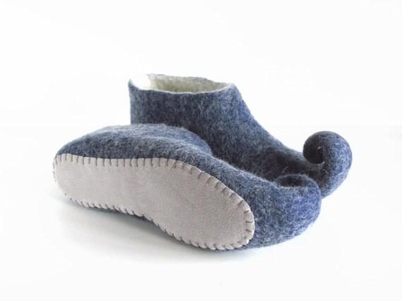 white felted blue felt Felted slippers wool slippers slippers slippers wool elf slippers gnome shoes slippers adult house q1nEqT0W