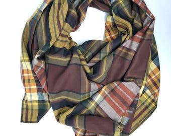 Plaid blanket scarf. Women's plaid scarf. Tartan blanket scarf. Blanket tartan scarf. Oversized scarf. Plaid shawl. Christmas gift for women