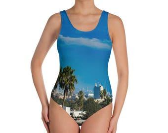 Los Angeles panorama | One-Piece Swimsuit