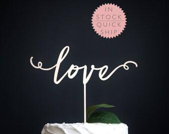 love wedding cake topper | wedding cake topper | wood wedding cake topper | love wedding decor | rustic wedding cake topper