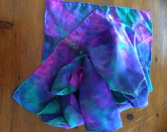 Handmade silk tie dye scarf