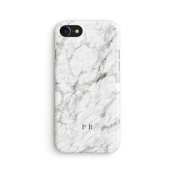 White Marble Name Initials Custom Iphone X Case Iphone 8
