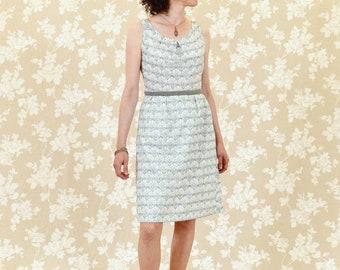 Dress BIO-Anoush: organic cotton, grey, white, green