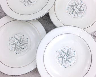 "Set of Four Vintage Homer Laughlin ""Celeste"" Small Plates"