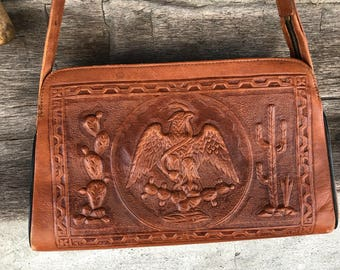 Mexican leather purse