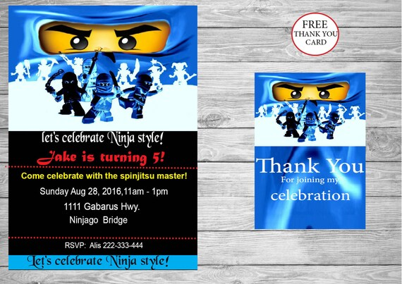 Ninjago party ninjago eyes birthday invitation free instant stopboris Image collections
