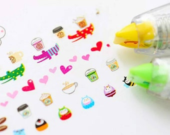Correction Tape Washi Tape Correction Refill Decorative Tape Correction Pen Kawaii Stickers Kids Crafts Party Favors Kawaii Washi Tape