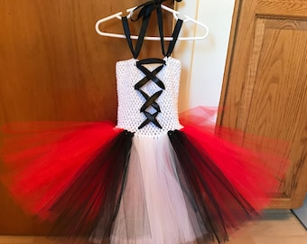Little red ridding hood tutu dress