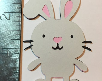 White bunny die cut
