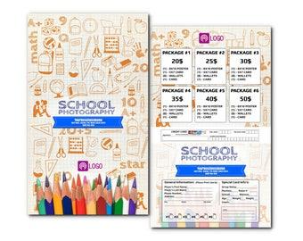 School Order Photos Envelope Templates