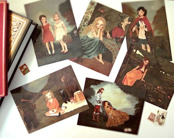 Set of Postcards, Postcard Pack, Postcard Set, Blank Card Set, Fairy Tale, Postcard Collection, Fairytale Postcard Set - Once Upon A Time