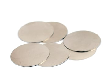 """5 Pcs.  Stainless Steel  35 mm (1 3/8"""""""" )   Stamping Blanks No  Hole 20 Gauge ,0.8 mm Thick"""