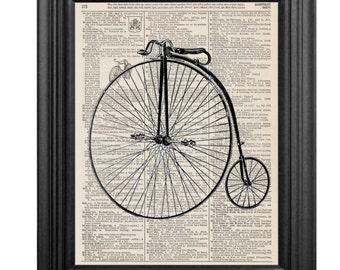 Dictionary Art Print - Vintage Bicycle