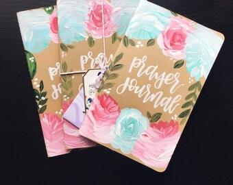 Hand Painted Prayer Journal/ Moleskin Journal: Bloom Theme