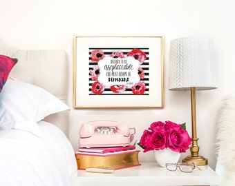 Coco Chanel Print, Coco Chanel Wall Print, Chanel Wall Print, Chanel Quote, Chanel Wall Decor